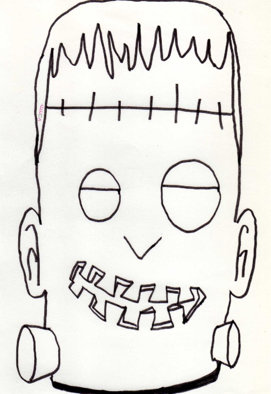 Halloween maschere fai da te da stampare e colorare