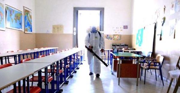 disinfestazione aule scolastiche