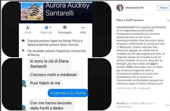 Elena Santarelli Avvisa le sue Fans e Lancia l'Allarme su Instagram