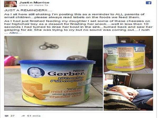 leggere le etichette sui prodotti per bambini
