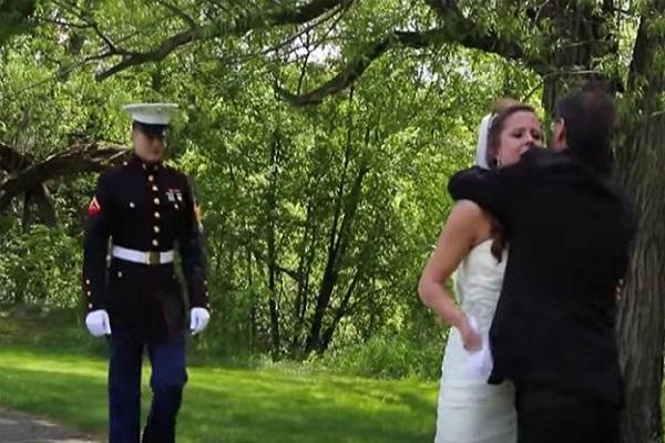 una sorpresa per la sposa il giorno de matrimonio