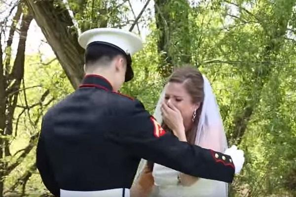 una sorpresa per la sposa nel giorno del suo matrimonio