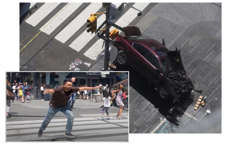 auto travolge la folla una ragazza morta