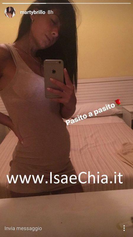 Ex corteggiatrice Martina Brillo incinta: l'annuncio social