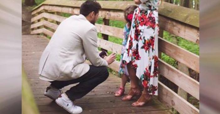 novo papà proposta matrimonio