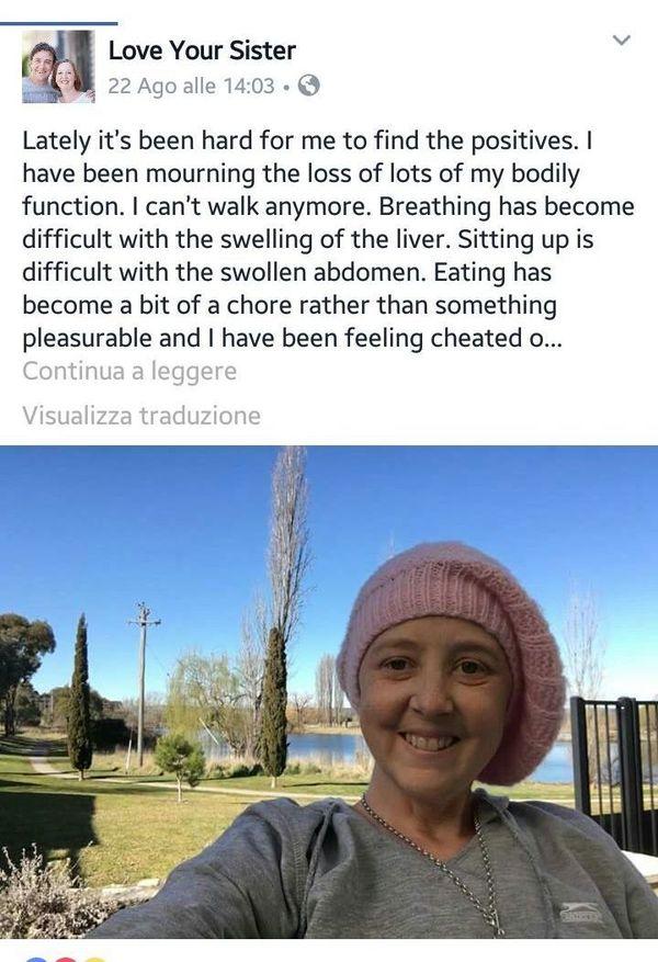 mamma malata di cancro, la storia di Connie Johnson