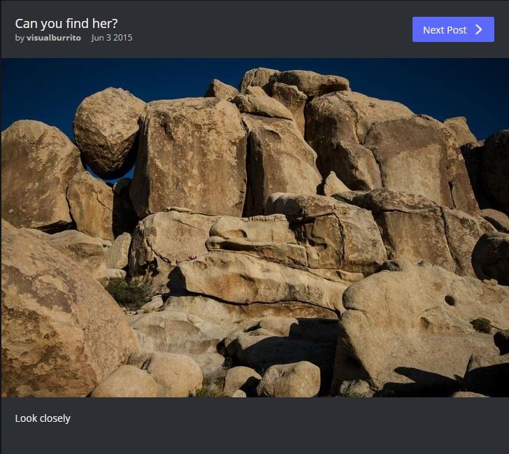 bambina tra le rocce riesci a trovarla?