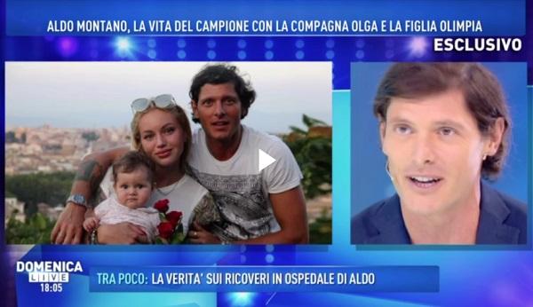 Aldo Montano a Domenica Live parla della nascita di Olimpia