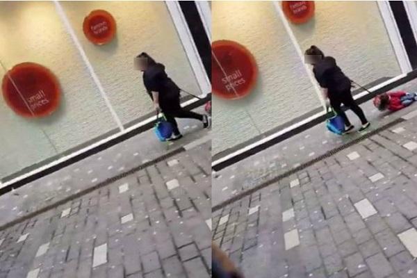 Trascina il figlio in strada: la spiegazione della mamma
