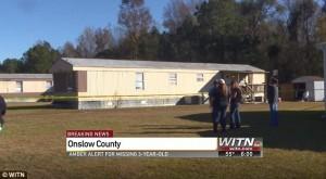 Bambina scomparsa durante la notte Jacksonville, nella Carolina del Nord rapimento