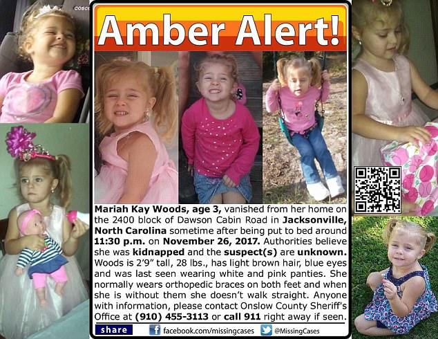 Bambina scomparsa durante la notte annuncio ufficile