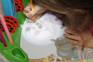 imparare a disegnare col proiettore magico Mitama