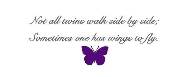 farfalla viola gemelli nati prematuri
