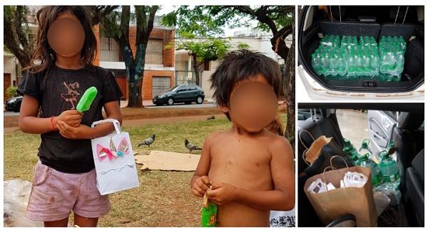 Bimba indigena beve da una pozzanghera (Foto virale)