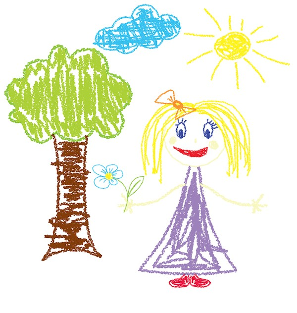 Cielo nei disegni dei bambini significato