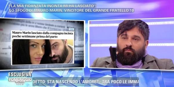 Mauro Marin del GF10 lasciato dalla fidanzata incinta (Video)