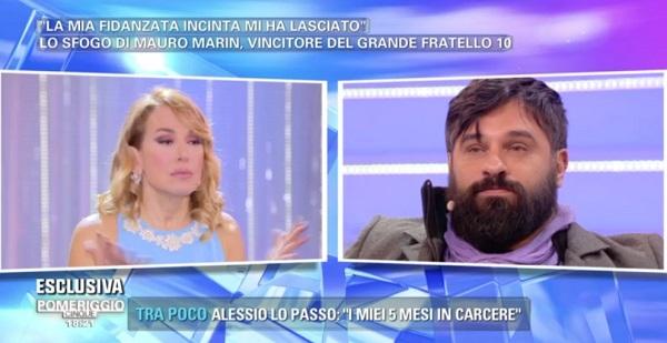 Mauro Marin del GF10 lasciato dalla fidanzata incinta