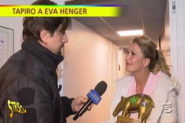 Eva Henger a Striscia la Notizia parla del caso droga