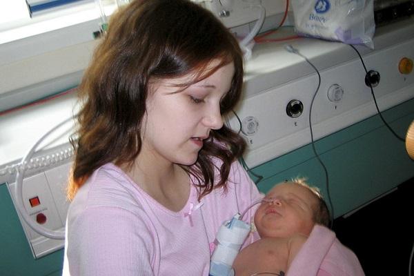 Tressa Middleton: la mamma più giovane d'Inghilterra