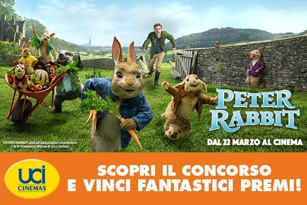 Ecco cosa bisogna fare per partecipare al concorso UCI Cinemas e Peter Rabbit