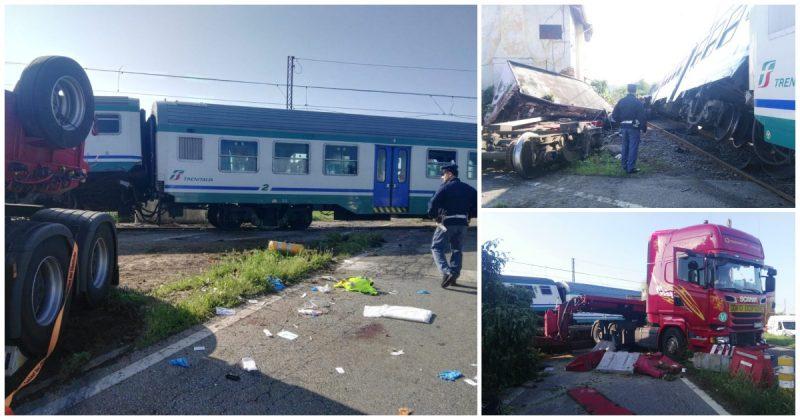 Treno deragliato a Caluso