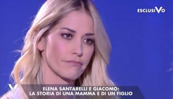 Elena Santarelli a Verissimo parla della malattia del figlio