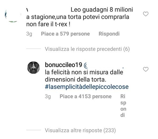 Il figlio di Bonucci compie 4 anni: la polemica social