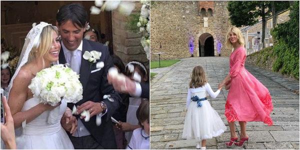 matrimonio di Simone Inzaghi e Gaia Lucariello figlio Tommaso assente
