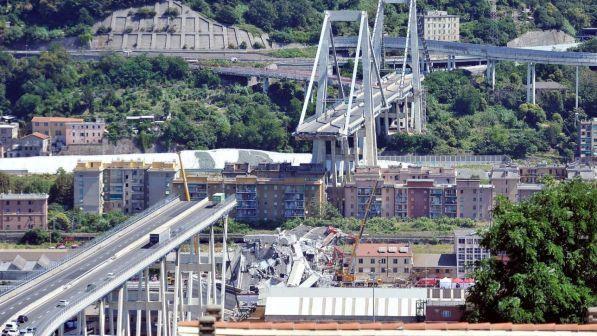 bimba traumatizzata dal crollo del ponte Morandi