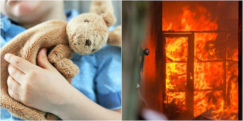 papà dà fuoco alla casa
