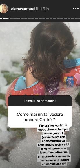 Foto del figlio di Elena Santarelli: mai più sui social