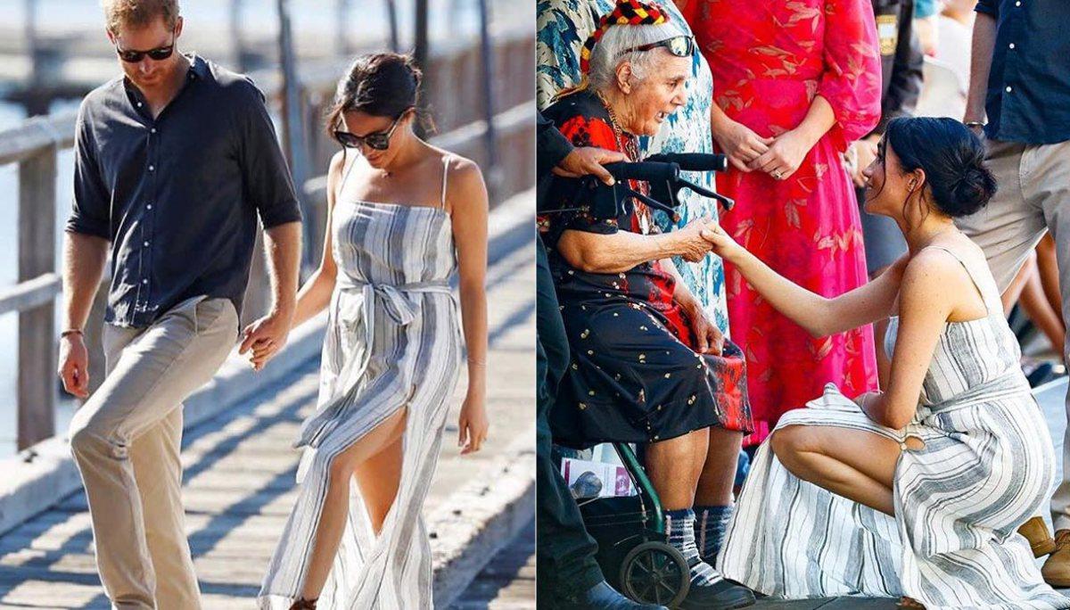 meghan markle cartellino attaccato al vestito