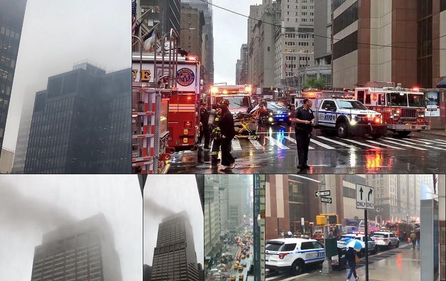 un elicottero si è schiantato sul tetto di un grattacielo