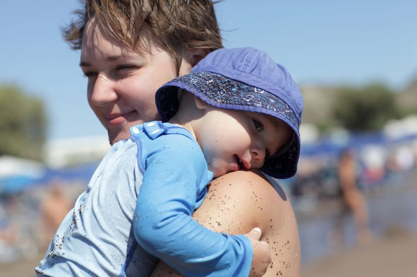 Mamme in spiaggia