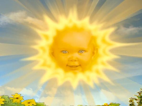 Il sole dei Teletubbies oggi