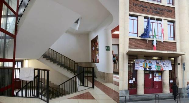 Bimbo caduto dalle scale a scuola