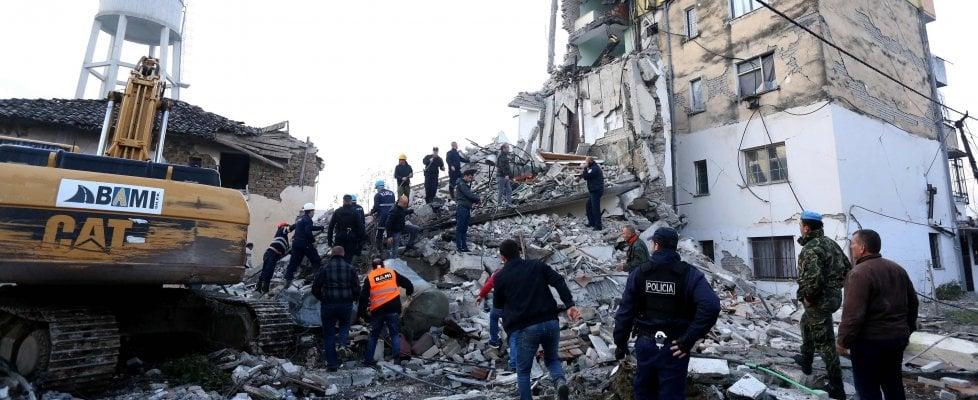 bilancio delle vittime del terremoto in Albania