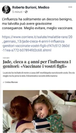 vaccinare i bambini contro l'influenza