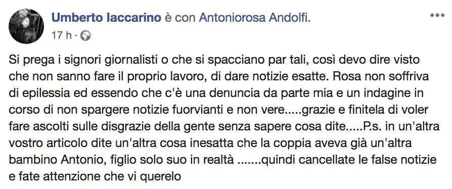 Rosa Andolfi giustizia