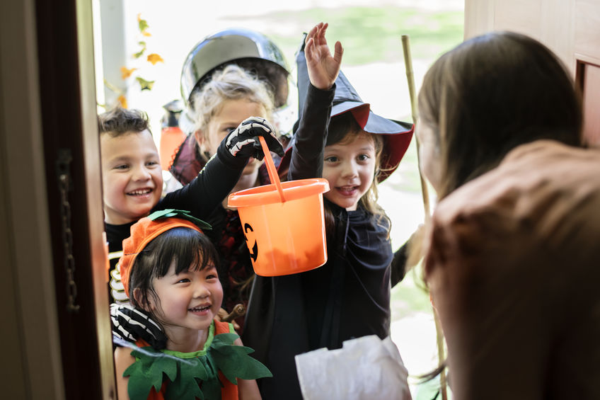 trick or treating ad Halloween