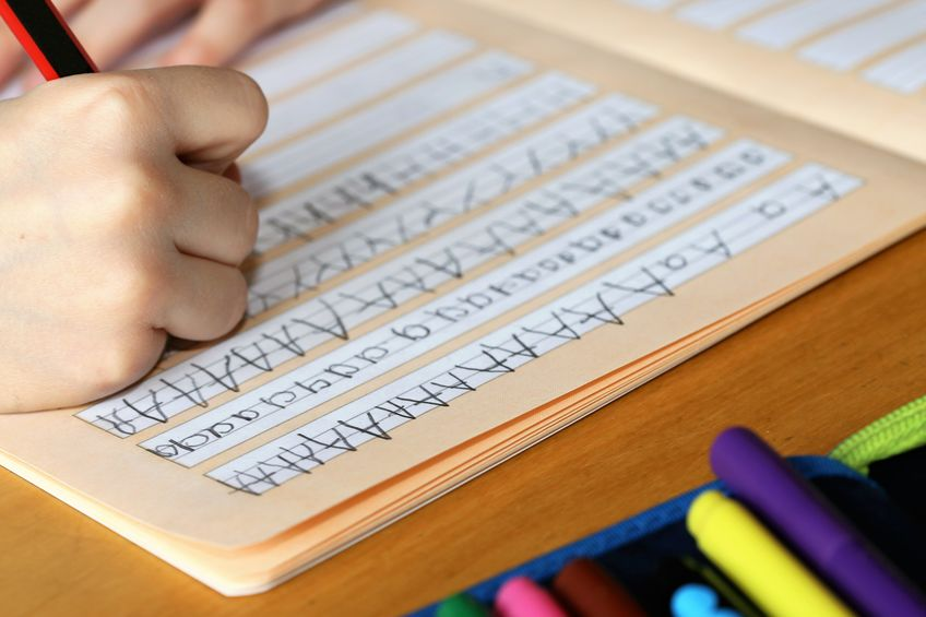 Apprendimento della scrittura, didattica a distanza alle elementari.