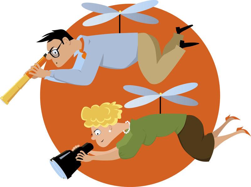 Chi sono i genitori elicottero e quali sono i loro comportamenti.