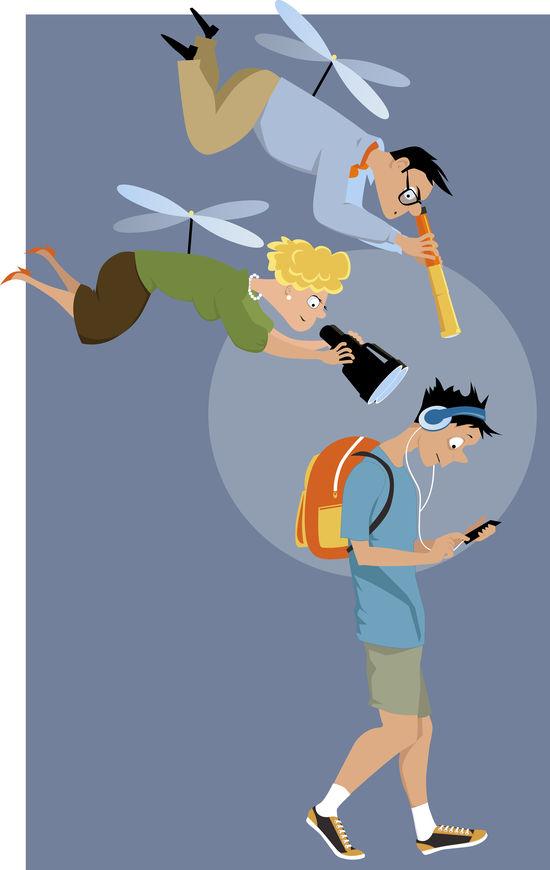 Genitori elicottero, come correggere i comportamenti disfunzionali.