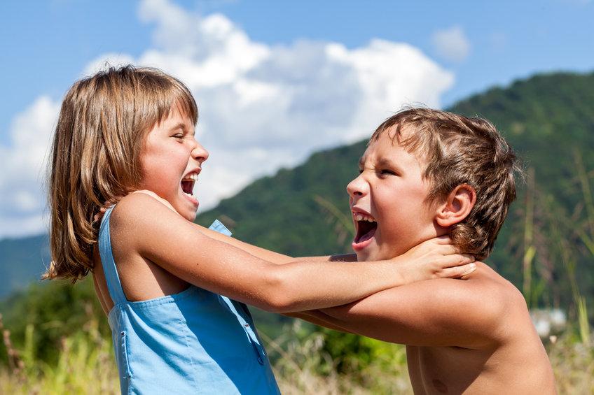 Aggressività tra fratelli che litigano, quali regole deve imporre il genitore.